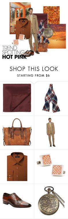 Subtle plaid by maria-kuroshchepova on Polyvore featuring Chaps, Wall + Water, Cufflinks, Inc., Skinny Tie Madness, Topman, Sole Society, men's fashion, menswear, contestentry and NYFWHotPink