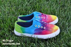 DIY Tie Dye Sneakers