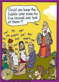 This made us laugh. Who doesn't love bubble wrap though, seriously?
