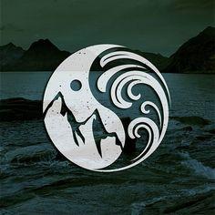 Hipster iconic / mountain and sea, enjoy nature ... design by yudosajiwo…