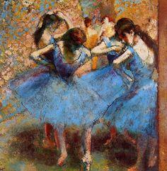 Edgar Degas, Blue Dancers (detail), 1890 on ArtStack #edgar-degas #art