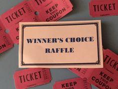 raffle ideas prize ideas and raffle tickets on pinterest. Black Bedroom Furniture Sets. Home Design Ideas