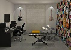 sala com instrumentos musicais - Pesquisa Google