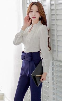 Morpheus Boutique  - White Ruffle Chiffon Long Sleeve Dress Shirt, CA$92.36 (http://www.morpheusboutique.com/new-arrivals/white-ruffle-chiffon-long-sleeve-dress-shirt/)