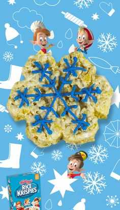 Snowy fun! Whatever the weather, make treats together! Don't let snowy days get you down. With the whole family gathered inside, it's a perfect time to make Rice Krispies Treats to bring a smile to everyone's face. Your taste buds will smile, too!