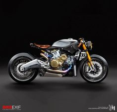 Bike Exif Custom Lab Ducati 1199 Panigale by Holographic Hammer Ducati Cafe Racer, Gs 500 Cafe Racer, Cafe Bike, Custom Cafe Racer, Cafe Racer Bikes, Cafe Racer Motorcycle, Motorcycle Design, Holographic Hammer, Bike Garage