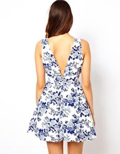 True Decadence Prom Dress in Floral Print - I adore the low back, absolutely to die for summer dress. http://thetaranakigirl.blogspot.co.nz/2013/11/two-dress-wish-list.html