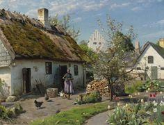 Peder Mørk Mønsted (1859-1941): Spring in Hjembaek