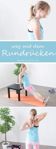 17 exercises against hunchback - effective hyperkyphosis workout - Pilates - Fitness Fitness Workouts, Pilates Workout, Yoga Fitness, Sport Fitness, Mens Fitness, Fun Workouts, Health Fitness, Fitness Hacks, Training Motivation