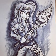 Apple and her gnome stick from the movie #TurboKid by @edbot5000. #PinterestHorrorBest https://t.co/oCaeZ6WtQe