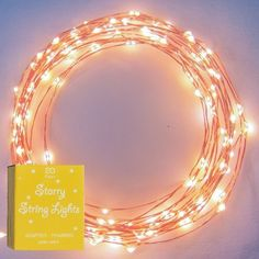 Starry Starry Lights - Warm White Color on Copper Wire - LED String Light - Includes Power Adapter - Generatin with 120 Individual LEDs: Patio, Lawn & Garden