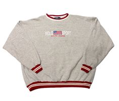 311543de730378 Vintage 90s Ralph Lauren Polo Sport Crewneck Sweatshirt Made in USA Mens  Size XL $30.00