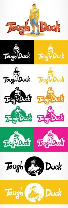 Create a Tough Duck for sport equipment Label by glasshopperart