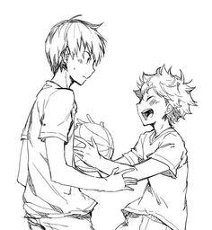Haikyuu ^^ look at little Kageyama falling in love