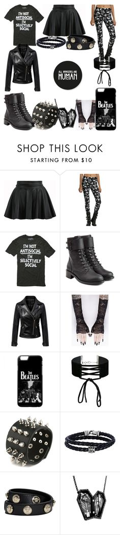 """""""All Monsters Are Human"""" by adelle-louise-istead on Polyvore featuring Philosophy di Lorenzo Serafini, Chicnova Fashion, Miss Selfridge, Phillip Gavriel, Versace and Curiology"""
