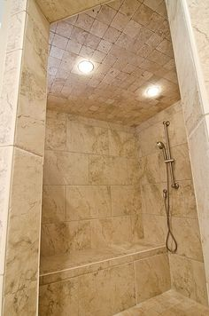 Tiled walk in shower by Vin|Yet Architecture, via Flickr