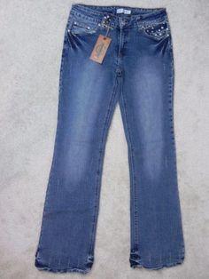 JCNY-Jeans-NEW-Studded-Stretch-Bootcut-Jeans-Size-27-Waist-M1-9
