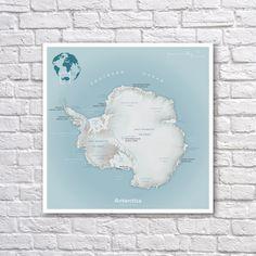 Dymaxion map poster fuller map projection world map wall art antarctica terrain map antarctica poster map art map poster gumiabroncs Images
