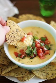 hatch chile queso dip by girlversusdough @Stephanie Wise | Girl Versus Dough