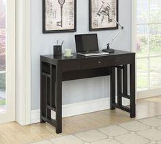 Convenience Concepts Newport Laurel Desk in Espresso