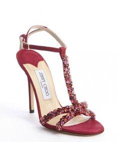 Sandali gioiello rosa fragola Jimmy Choo