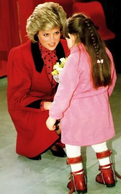 Princess Diana - she almost always knelt down to the child's level. She epitomized grace and compassion.