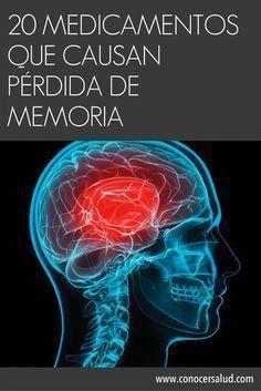 Tenga cuidado: 20 medicamentos que causan pérdida de memoria #salud