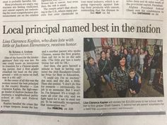 National principal of the year from Phila.  Lisa Kaplan, principal of Andrew Jackson Elementary School at 1213 S. 12th St, is the winner of the 2015 Escalante-Gradillas Prize for Best in Education.