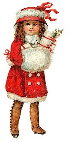 a girl in red suit- Christmas