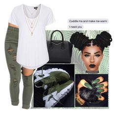 """👐🏾"" by wavyjai ❤ liked on Polyvore featuring Givenchy, Topshop and Forever 21"