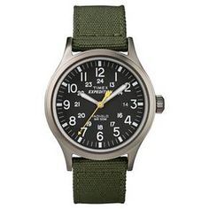 Men's Timex Expedition® Scout Watch with Nylon Strap - Gray/Black/Green T49961JT : Target