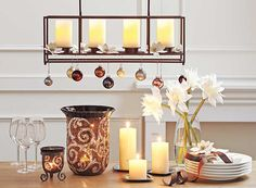 country christmas with Light Illusions #LED-pillar-candles