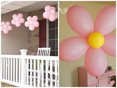 Flower balloons for a little girl's party.