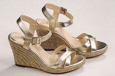 zapato # shoes # sandalia #dorado # @#Moranguito #2015