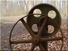 Vas kerék, ipari stílusú dekoráció