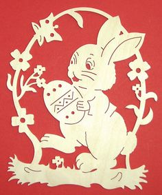 Ideas and Inspirations: DIY: Ostern für unterwegs * Easter for take away Silhouette Curio, Egg Art, Scroll Saw, Pyrography, Paper Cutting, Wood Art, Quilling, Art For Kids, Nativity