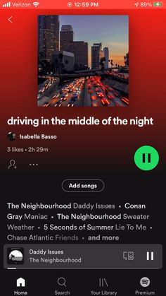 Driving in the middle of the night