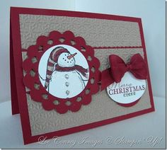 """stampin up card-love the colors. Could also be a """"let it snow"""" card for later in the year."""