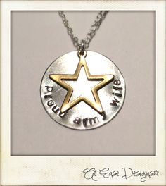 Proud army wife, girlfriend, sister, mom. Military  pride jewelry. at ease. $28.00, via Etsy.