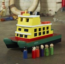 Wooden Sydney Ferry, based on First Fleet, toy for ages 3+ available for immediate shipping.