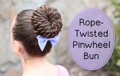 This is beyond stunning. The rope-twisted pinwheel bun, by Cute Girls Hairstyles 5 Minute Hairstyles, Dance Hairstyles, Cute Girls Hairstyles, Easy Hairstyles For Long Hair, Pretty Hairstyles, Braided Hairstyles, Fashion Hairstyles, Creative Hairstyles, Updo Hairstyle