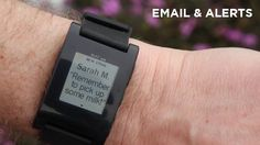 E-Paper iPhone Watch - Receive Emails and Messages on your smart watch.