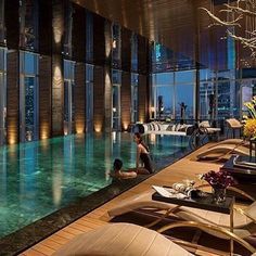 Four Seasons Hotel ✨ Shanghai, China Via @the.luxury.rich.club
