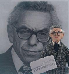 Paul Erdos Mathematician Doll Miniature Art by UneekDollDesigns