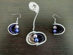 Necklace and earrings Nespresso capsules. Gift for by ElfaBijoux