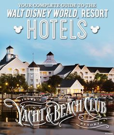 Complete Guide to the Walt Disney World Resort hotels: Disney's Yacht & Beach Club Resorts Complete Guide to the Walt Disney World Resort hotels: Disney's Yacht & Beach Club Resorts Disney Resort Hotels, Disney World Hotels, Walt Disney World Vacations, Hotels And Resorts, Family Vacations, Disney Parks, Family Travel, Florida Resorts, Beach Club Resort