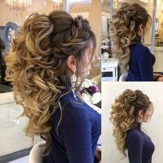 Стрижки# hair, quinceanera hairstyles и prom hair. Quince Hairstyles, Bride Hairstyles, Pretty Hairstyles, Volume Hairstyles, Country Wedding Hairstyles, Hairstyles 2018, Hairstyle Ideas, Wedding Hair And Makeup, Bridal Hair