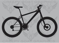 Mountain Bike Decal by CreepyGoatGraphics on Etsy, $4.00