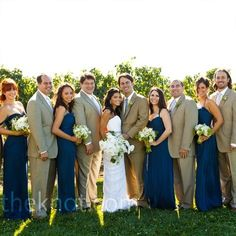 Bridal party colors..maybe a darker tan for the fellas..