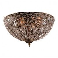 Elk Lighting 5963/6 Crystal Flushmount Ceiling Fixture from the Elizabethan Collection